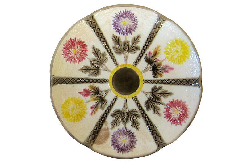 Wedgwood Majolica Plate, 1883