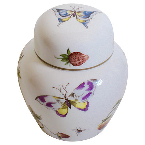 English Porcelain Ginger Jar