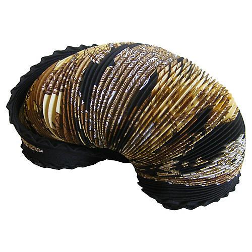 Hermès Art des Steppes Pleated Scarf