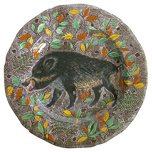 French Faience Wild Boar Platter