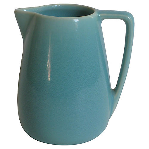 1940s California Pottery Syrup Jug