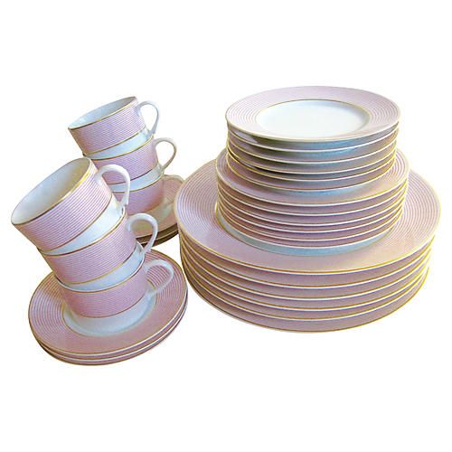 Raynaud Limoges Pinstripe Service for 6
