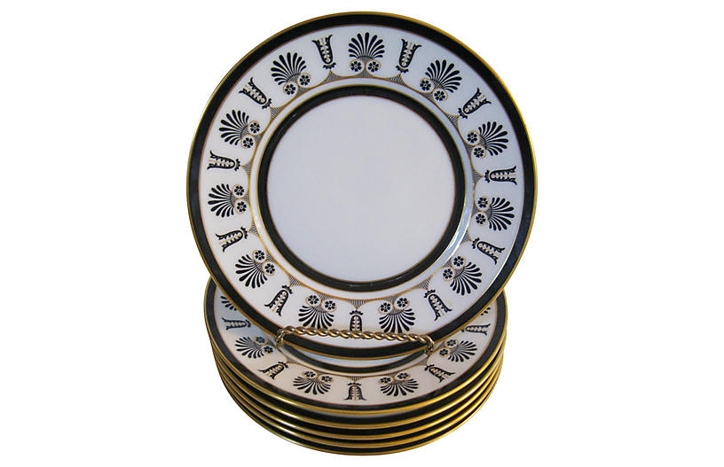 Ginori Italian Porcelain Plates S/6
