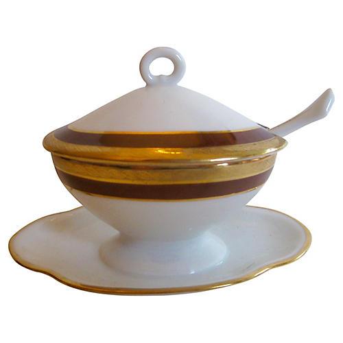 Ginori Italian Mustard Pot