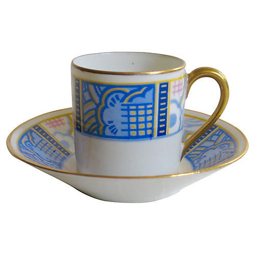 French Limoges Cup & Saucer
