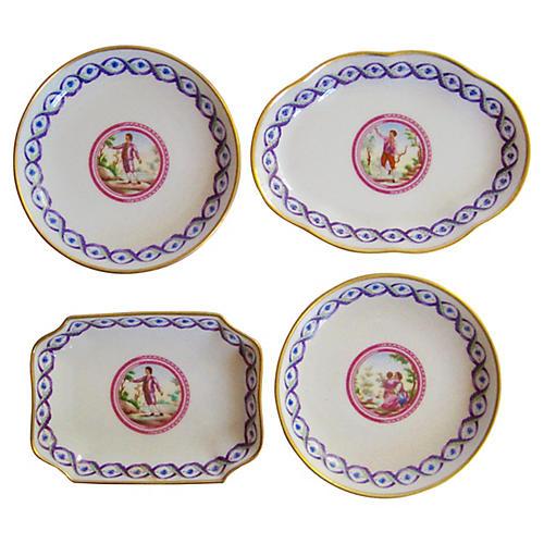 Ginori Gilt Porcelain Collection, S/4