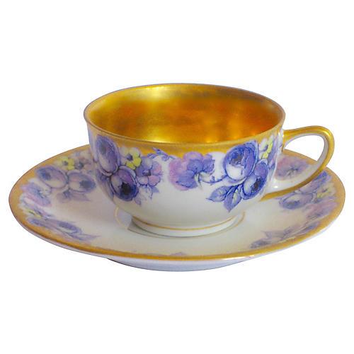 Gilt Porcelain Demitasse Set