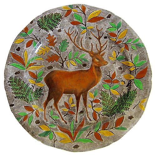 Gien French Faience Deer Platter