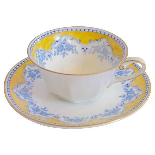 Porcelain Demitasse Cup & Saucer