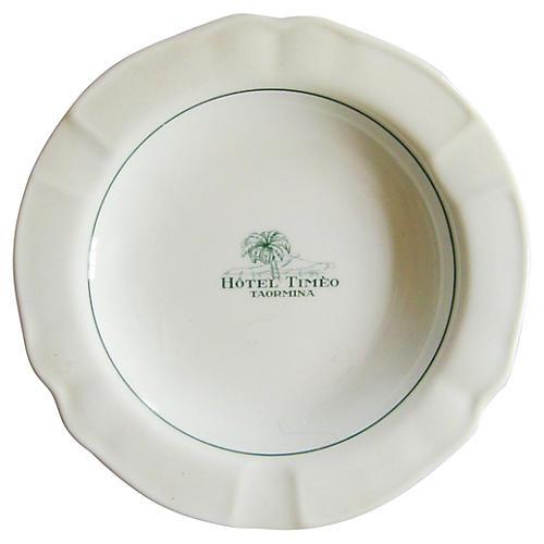 Hotel Timeo Italian Porcelain Ashtray