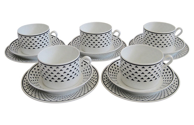 Ginori Italian Porcelain Dessert Set S/5