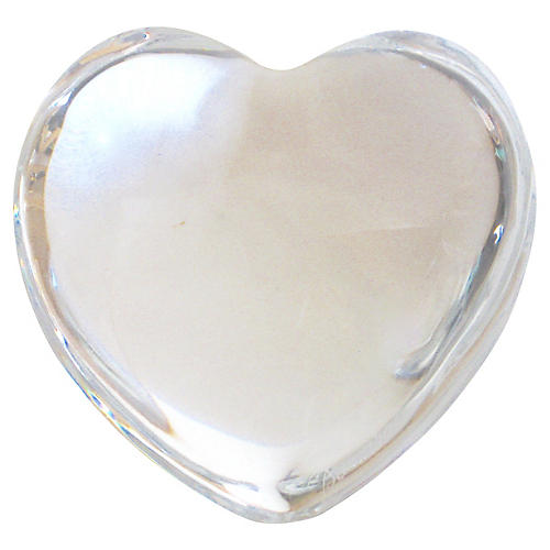 Baccarat French Crystal Heart