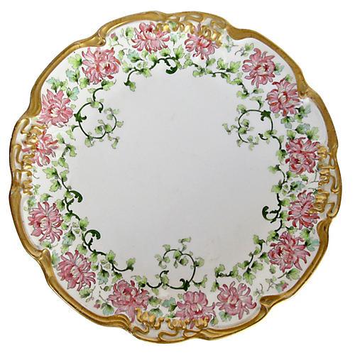 Limoges Gilt Porcelain Plate