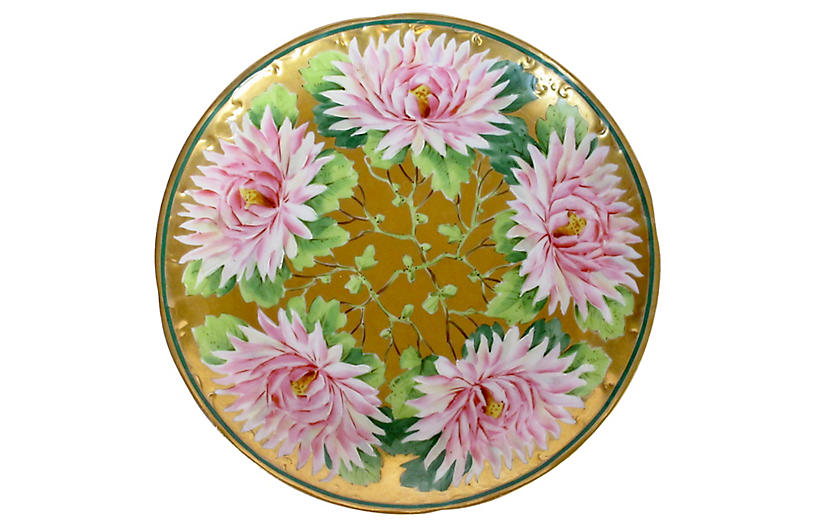 Early 1900s Hand-Painted Porcelain Plate