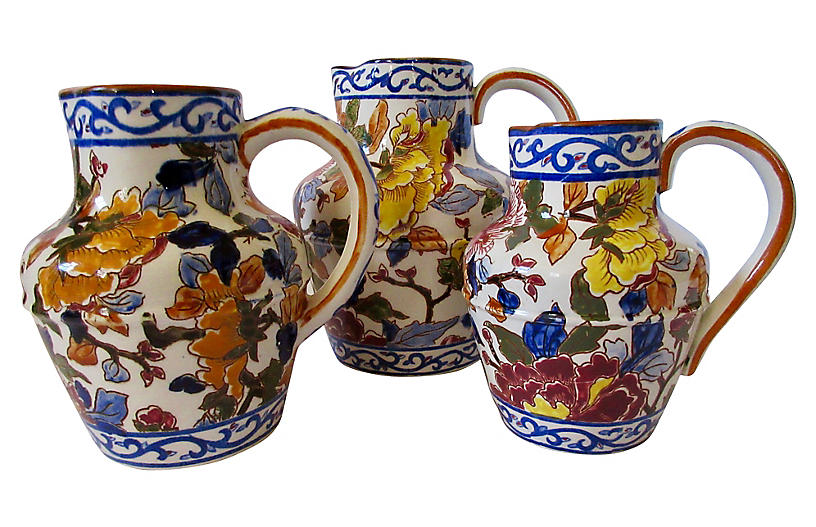 Gien French Peonies Pitcher Collection