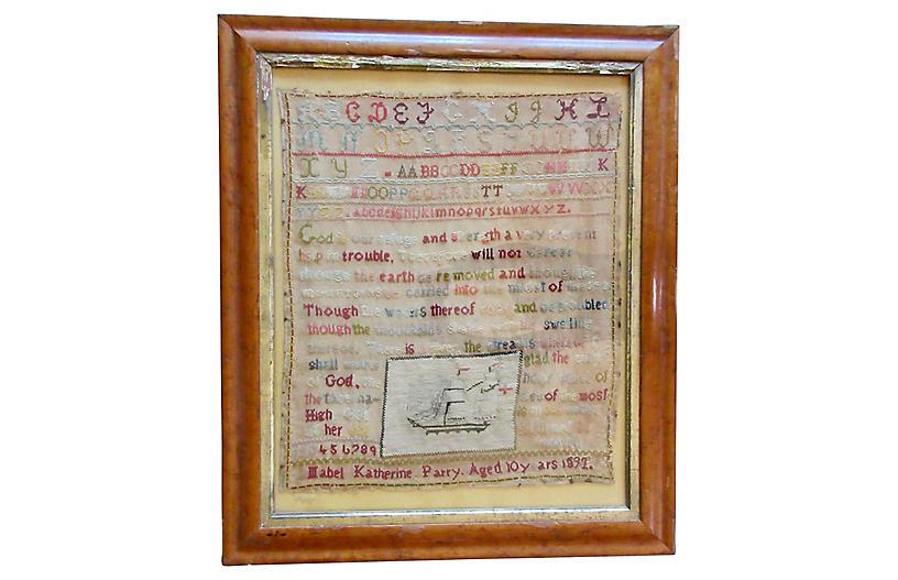 1800s Alphabet Sampler