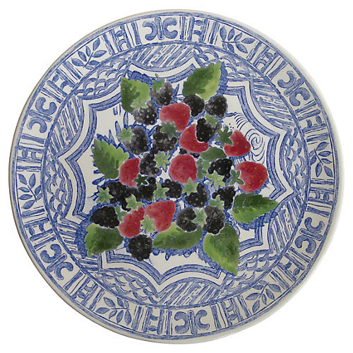 French Faience Serving Platter