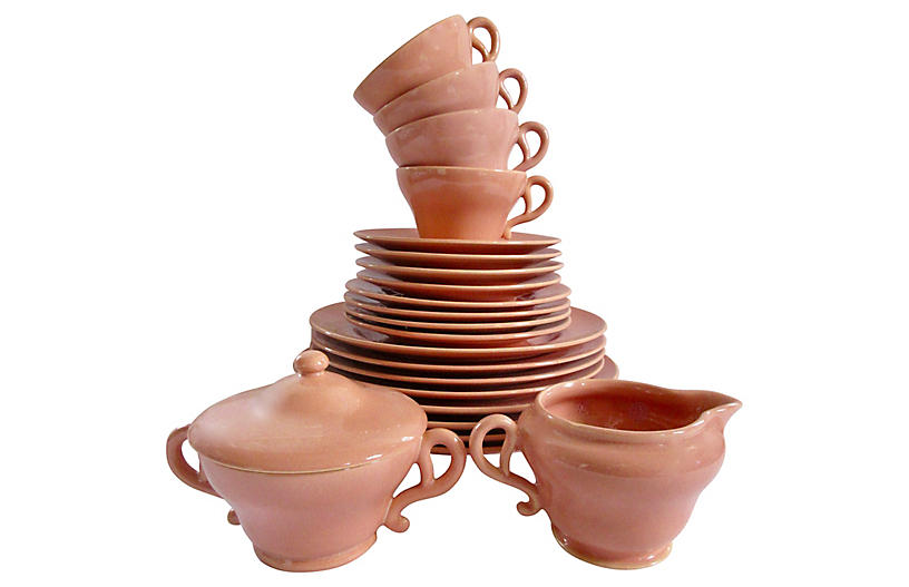 1940s California Pottery Dinner Service