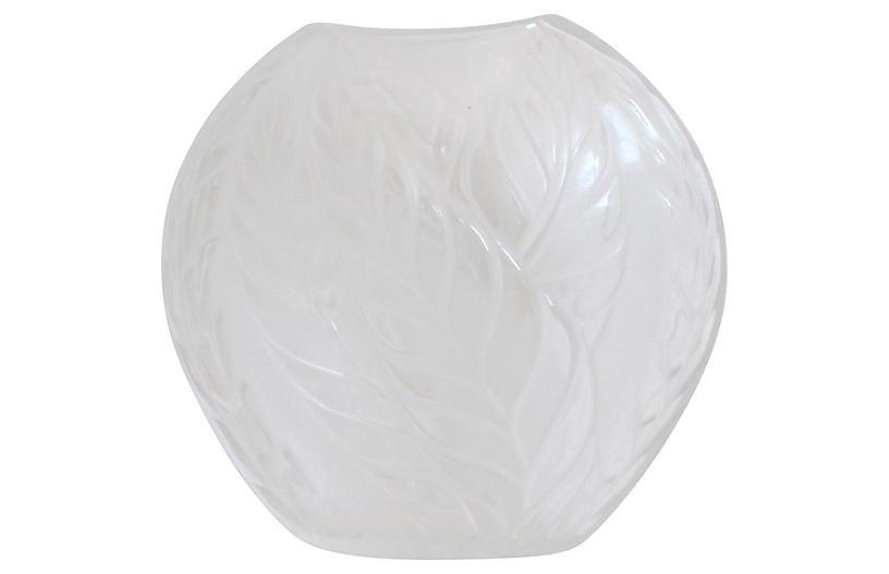 Lalique French Art Deco Crystal Vase