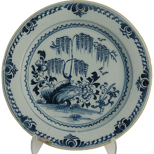 Delft Chinoiserie Cabinet Plate, C. 1790