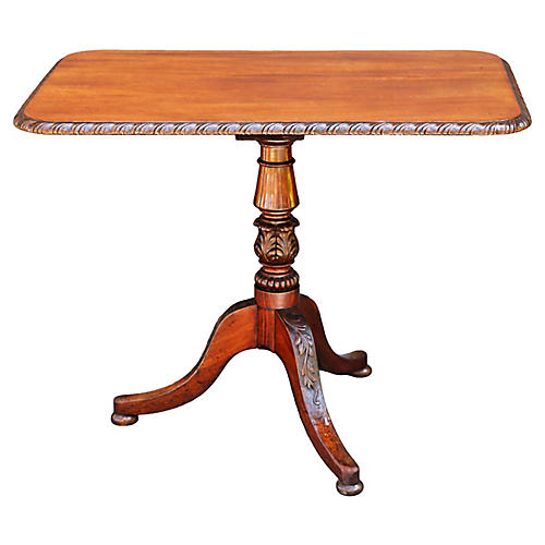 19th-C. English Mahogany Table