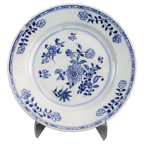 Antique Dutch Delft Chinoiserie Plate