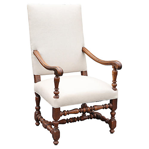 Antique French Walnut Armchair