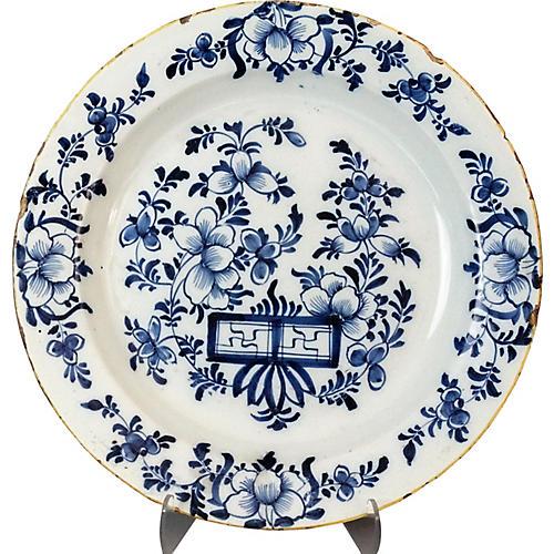 Antique Dutch Delft Charger