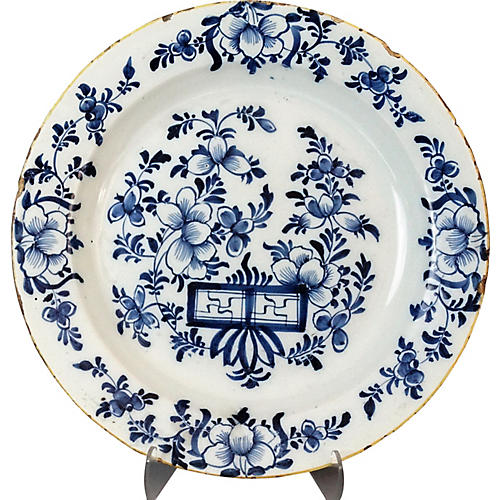 Antique Dutch Delft Charger