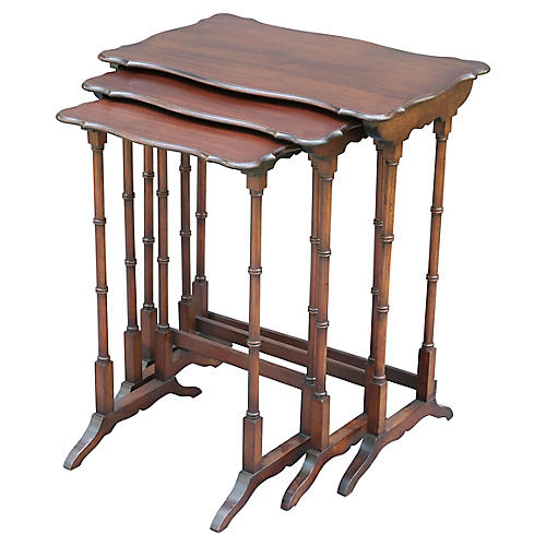 Mahogany Nesting Tables, S/3