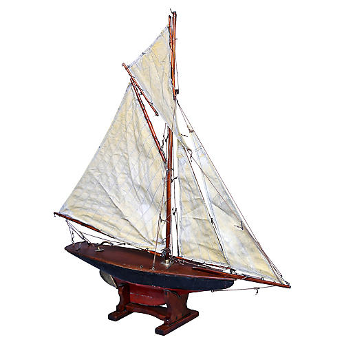 19th-Century English Pond Yacht