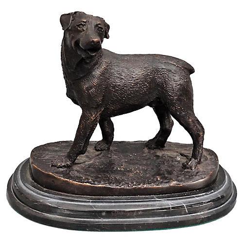 Bronze Rottweiler Dog Sculpture