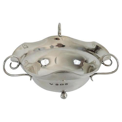 Sterling Silver Art Nouveau Bowl, C.1900