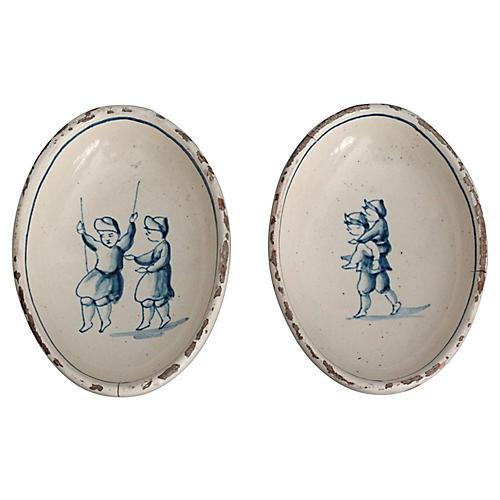 Antique Delft Dishes, S/2