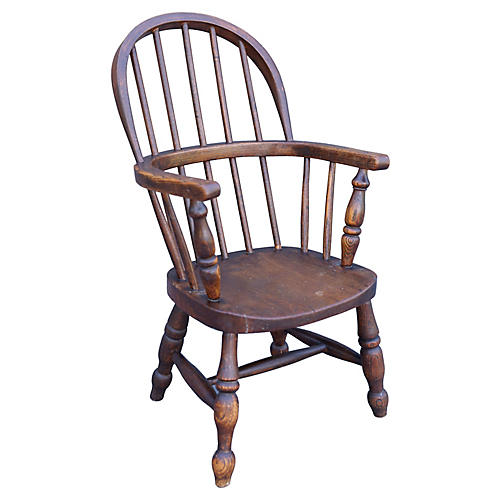 19th-C. English Child's Windsor Chair