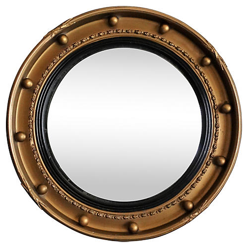 1930s Convex Bull's Eye Mirror
