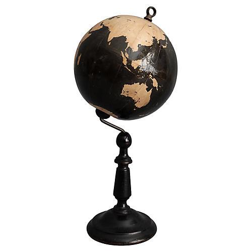 English Globe on Stand