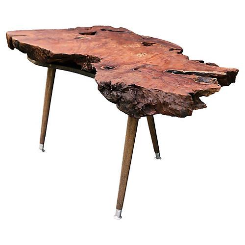 Burl-Walnut Coffee Table