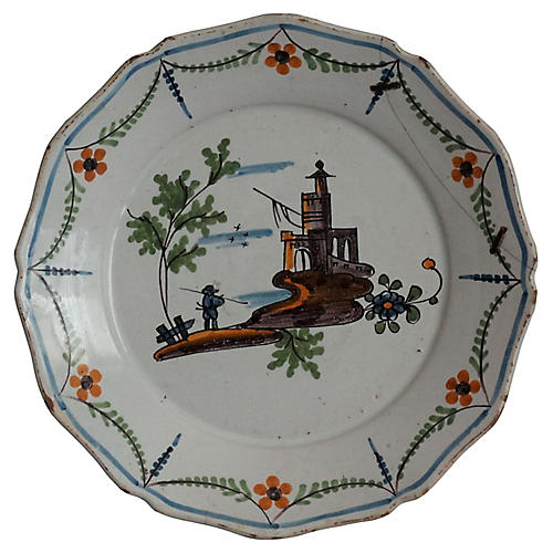 18th-C French Revolutionary War Plate