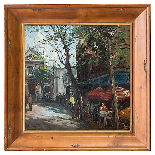 French Street Scene by C. Kluge