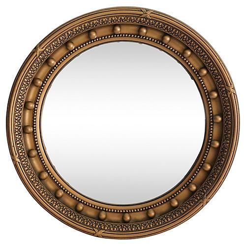Art Deco Convex Bullseye Mirror