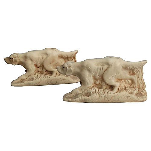 McCoy Sporting Dog Bookends, Pair