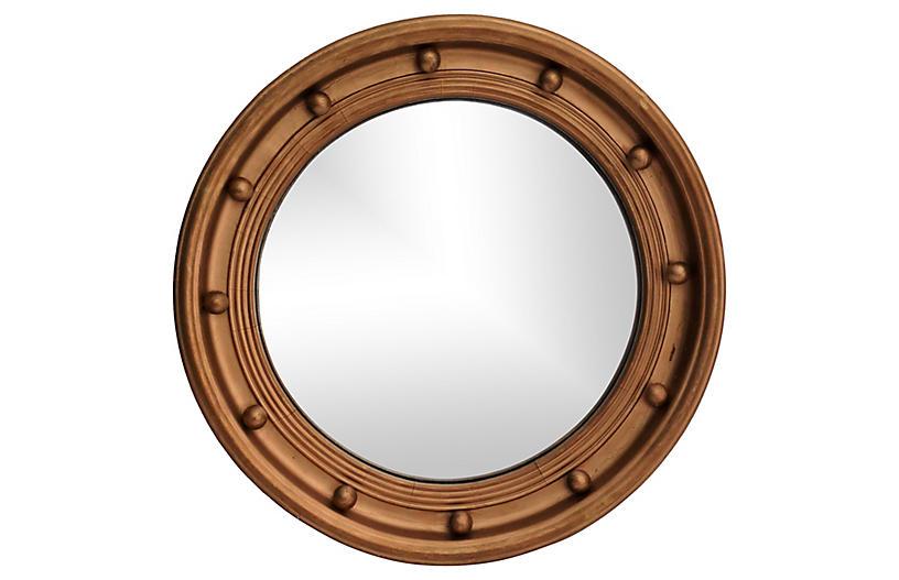 Art Deco Bullseye Convex Mirror