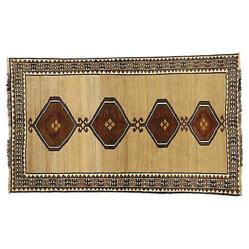 "Persian Shiraz Rug, 4'3"" x 7'1"""