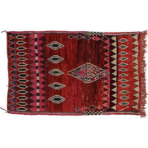 "Moroccan Rug, 5'3"" x 7'8"""