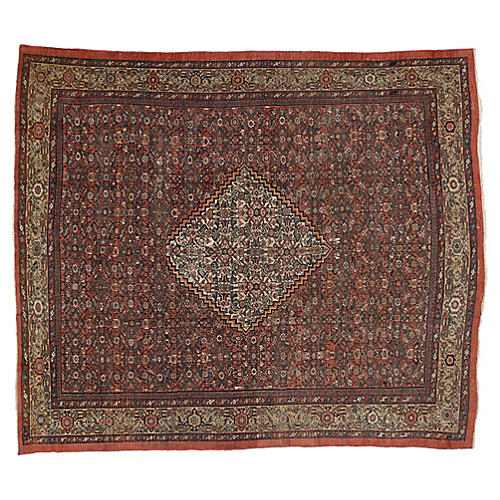 """Antique Persian Mahal Rug, 8'6"""" x 10'"""