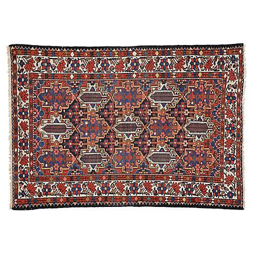 """Antique Persian Rug, 4'7"""" x 6'8"""""""
