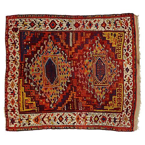 """Antique Turkish Oushak Rug, 5'1"""" x 5'8"""""""