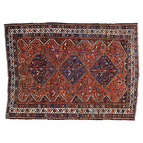 Antique Shiraz Persian Rug - 7' x 9'4