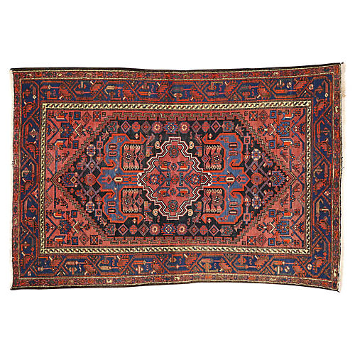 Antique Persian Hamadan Rug, 4'3x6'4